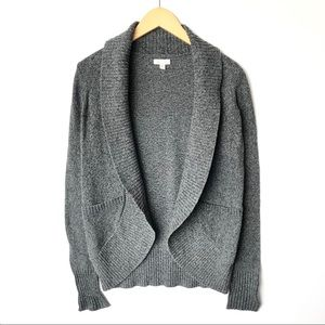 SILENCE NOISE Open Front Knit Cardigan Sweater L/S